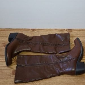 Nicole Faux Leather Heeled Riding Boots